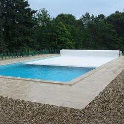 Ролетное накрытие для бассейна надводная Protect 9х4м