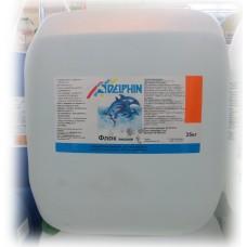 Химия для бассейнов флок DELPHIN жидкий, 35кг