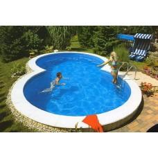 Бассейны каркасный бассейн в форме восьмерки 6,25х3,6х1,2 м