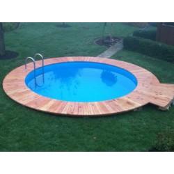 Каркасный бассейн круглый 3,5х1,2 м