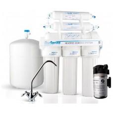 Фильтры для очистки воды система обратного осмоса Bluespring W-8005-UA5-1 c помпой и с минерализатором