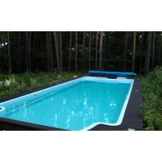 Бассейны композитный бассейн Марсель 10,7х4х1,65 м