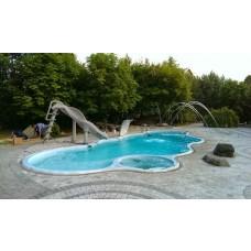 Бассейны композитный бассейн Монте-Карло 13х5,5х2,1 м